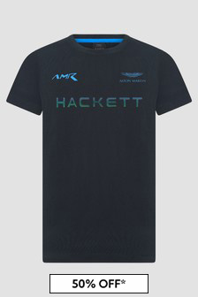 Hackett London Kids Boys Navy T-Shirt