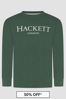 Hackett London Kids Boys Green T-Shirt