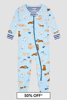 Hatley Kids & Baby Baby Boys Blue Sleepsuit