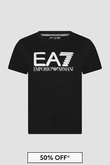 EA7 Emporio Armani Boys Black T-Shirt