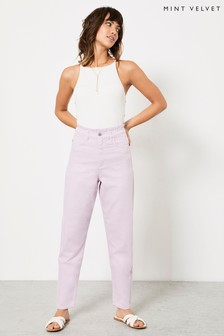 Mint Velvet Lilac High Waist Relaxed Jeans