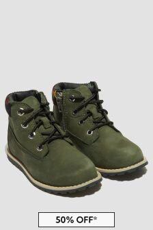 Timberland Boys Green Boots