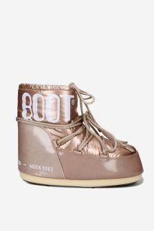 Moonboots Girls Pink Snow Boots