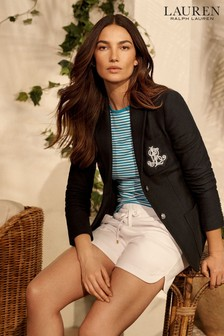 Lauren Ralph Lauren Black Crest Logo Anfisa Casual Blazer