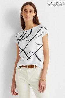 Lauren Ralph Lauren Script Logo Grieta Relaxed Fit T-Shirt