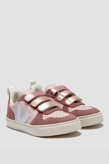 Veja Girls Pink V-10 Velcro Trainers