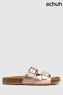 Schuh Bronze Trust Leather Double Buck Sandals