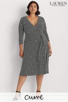 Lauren Ralph Lauren Curve Black Carlyna Dress