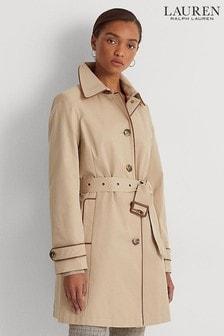 Lauren Ralph Lauren Beige Lined Trench Coat