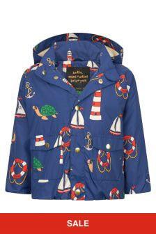 Mini Rodini Boys Navy Jacket