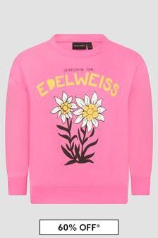 Mini Rodini Girls Pink Sweat Top