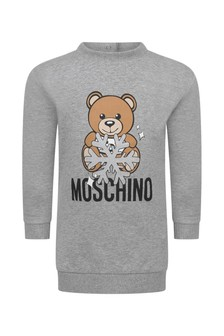 Moschino Kids Baby Girls Teddy Sweater Dress