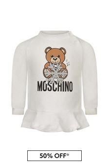 Moschino Kids Baby Girls Teddy Snowflake Sweater