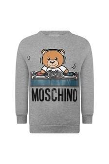 Moschino Kids Boys Fleece Teddy DJ Sweater