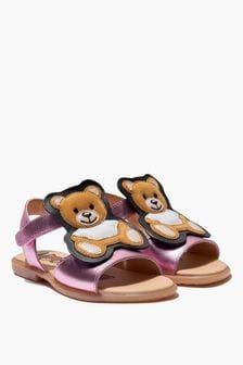 Moschino Kids Girls Teddy Sandals