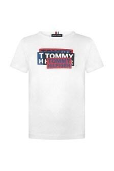 Tommy Hilfiger Boys Sticker Print Top