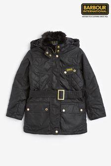 Barbour® International Girls Black Charade Wax Jacket