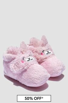 UGG Baby Girls Pink Bexbee Llama Booties
