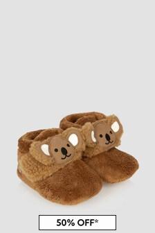 UGG Baby Unisex Brown Bixbee Koala Booties
