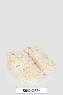 UGG Baby Ivory Curly Bixbee Booties