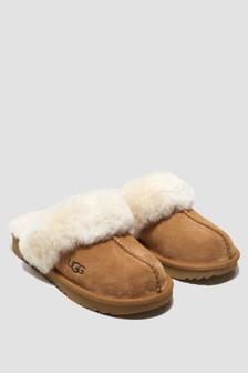 UGG Kids Brown Cozy Slippers