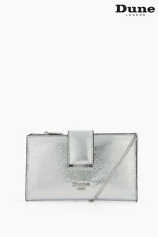 Dune London Silver Kiplowe Purse On Chain With Removable Card Holder