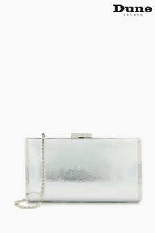 Dune London Metallic Blaike Hard Case Clutch Bag