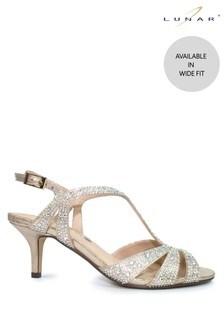 Lunar Gold Francie Wide Fit Gemstone Sandals