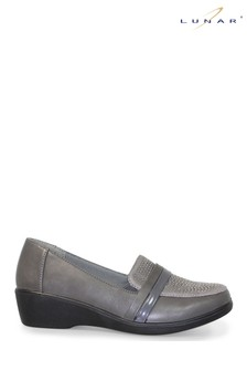 Lunar Grey Esther Wedge Shoes
