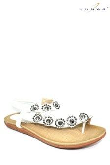 Lunar White Charlotte Flower Sandals