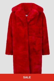 Monnalisa Girls Faux Fur Coat