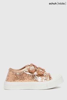 Schuh Pink Majestic 2V Glitter Trainers