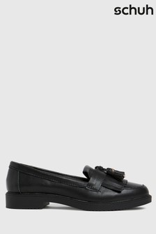 Schuh Black Lorri Leather Loafers