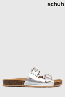 Schuh Silver Trust Leather Double Buck Sandals