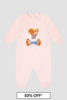 Ralph Lauren Kids Baby Girls Pink Rompersuit