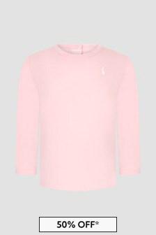 Ralph Lauren Kids Baby Girls Pink T-Shirt
