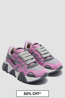 Versace Girls Pink Trainers