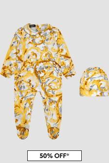 Versace Baby White Sleepsuit Gift Set