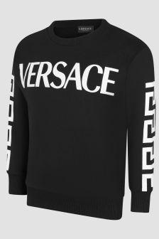 Versace Boys Black Sweat Top