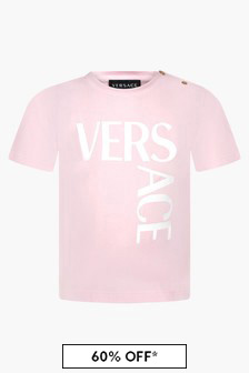 Versace Baby Girls Pink T-Shirt