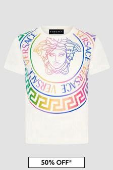 Versace Girls White T-Shirt