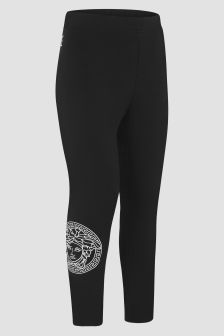 Versace Girls Black Leggings