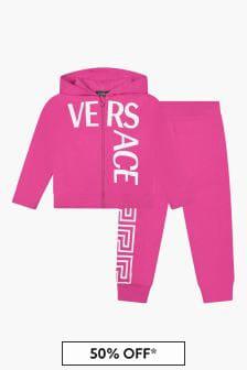 Versace Girls Pink Tracksuit