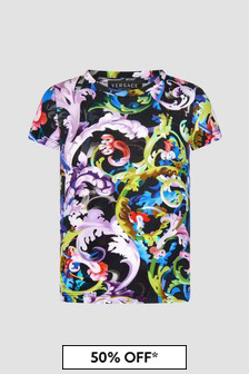 Versace Girls Black T-Shirt
