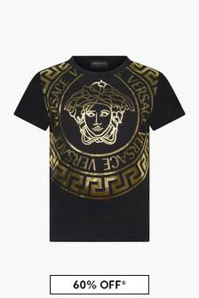 Versace Kids Black T-Shirt