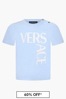 Versace Baby Boys Blue T-Shirt