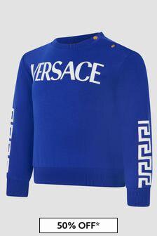 Versace Baby Boys Blue Sweat Top