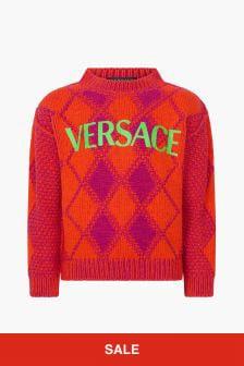 Versace Boys Orange Jumper