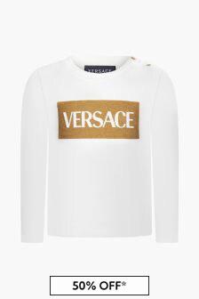 Versace Baby Girls White T-Shirt