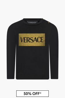 Versace Baby Girls Black T-Shirt